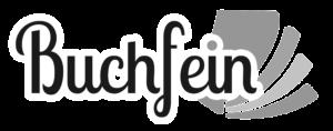 Buchfein Logo schwarzweiß